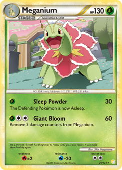 Meganium card for HeartGold & SoulSilver