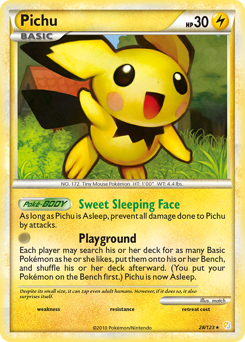 Pichu card for HeartGold & SoulSilver