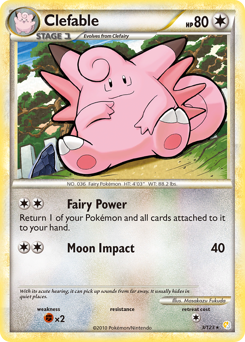 Clefable card for HeartGold & SoulSilver