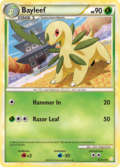 Bayleef card for HeartGold & SoulSilver