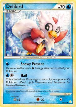 Delibird card for HeartGold & SoulSilver