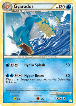 Gyarados card for HeartGold & SoulSilver
