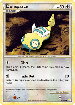 Dunsparce card for HeartGold & SoulSilver