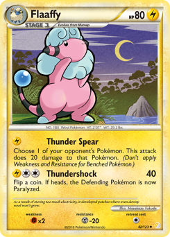 Flaaffy card for HeartGold & SoulSilver