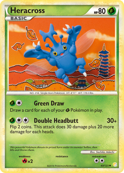 Heracross card for HeartGold & SoulSilver