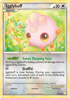 Igglybuff card for HeartGold & SoulSilver