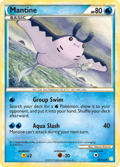 Mantine card for HeartGold & SoulSilver
