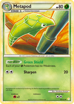 Metapod card for HeartGold & SoulSilver