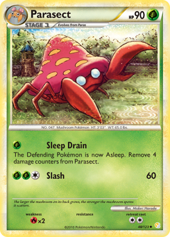 Parasect card for HeartGold & SoulSilver