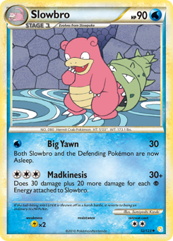 Slowbro card for HeartGold & SoulSilver