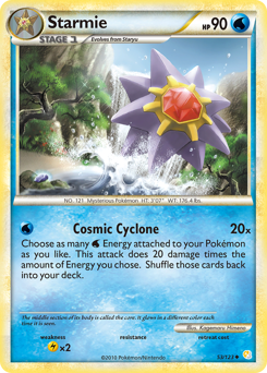 Starmie card for HeartGold & SoulSilver