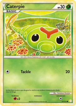 Caterpie card for HeartGold & SoulSilver