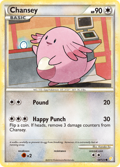 Chansey card for HeartGold & SoulSilver