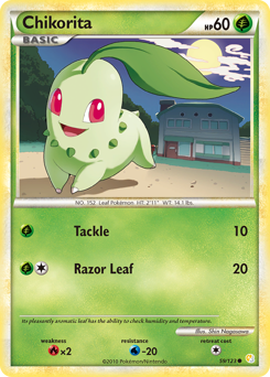 Chikorita card for HeartGold & SoulSilver