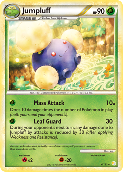 Jumpluff card for HeartGold & SoulSilver
