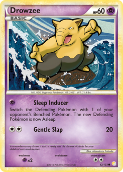 Drowzee card for HeartGold & SoulSilver
