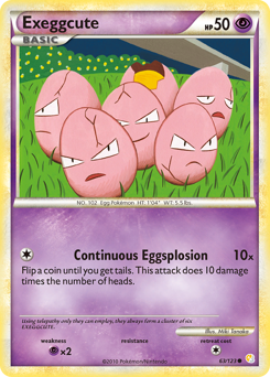 Exeggcute card for HeartGold & SoulSilver