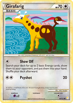 Girafarig card for HeartGold & SoulSilver