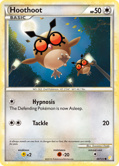 Hoothoot card for HeartGold & SoulSilver