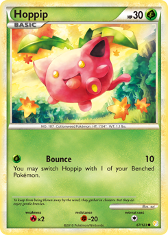Hoppip card for HeartGold & SoulSilver