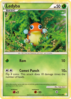 Ledyba card for HeartGold & SoulSilver