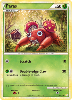 Paras card for HeartGold & SoulSilver