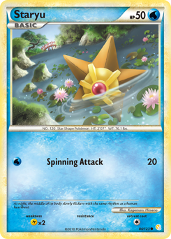 Staryu card for HeartGold & SoulSilver