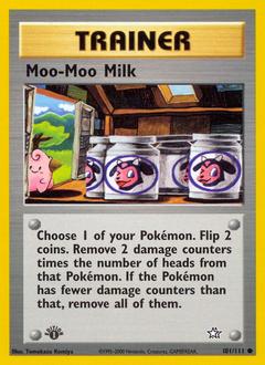 Moo-Moo Milk card for Neo Genesis