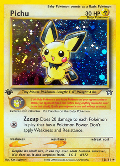Pichu card for Neo Genesis