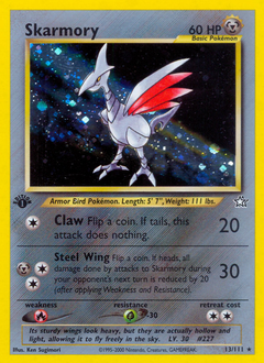 Skarmory card for Neo Genesis