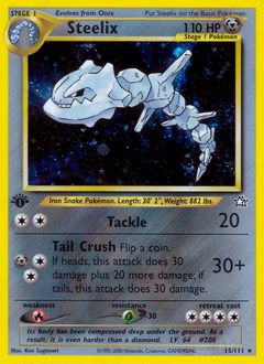 Steelix card for Neo Genesis