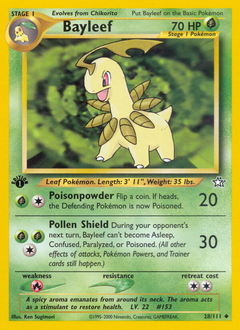 Bayleef card for Neo Genesis