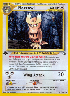 Noctowl card for Neo Genesis