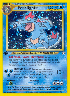 Feraligatr card for Neo Genesis