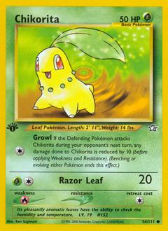 Chikorita card for Neo Genesis