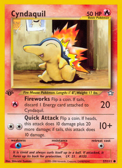 Cyndaquil card for Neo Genesis