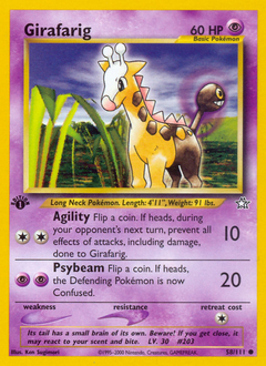 Girafarig card for Neo Genesis