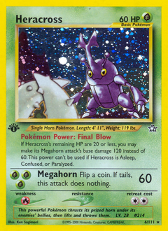 Heracross card for Neo Genesis