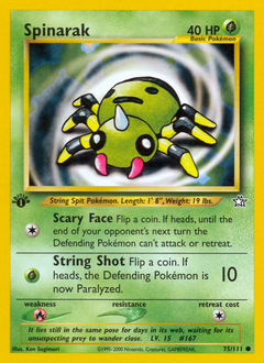 Spinarak card for Neo Genesis
