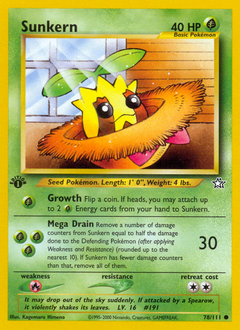 Sunkern card for Neo Genesis