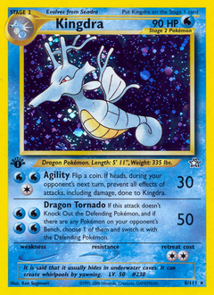 Kingdra card for Neo Genesis