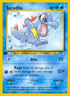 Totodile card for Neo Genesis