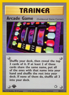 Arcade Game card for Neo Genesis