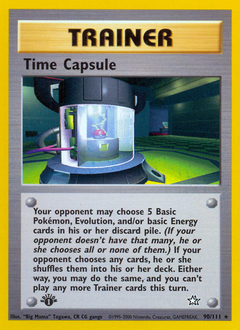 Time Capsule card for Neo Genesis