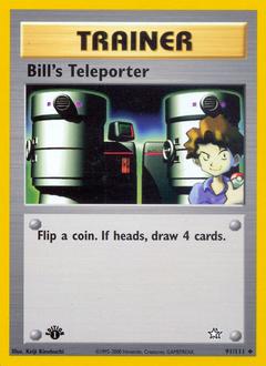 Bill's Teleporter card for Neo Genesis