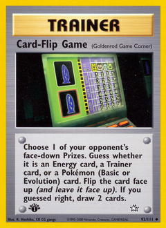 Card-Flip Game card for Neo Genesis