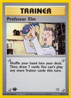 Professor Elm card for Neo Genesis