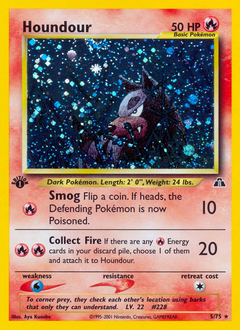 Houndour card for Neo Discovery