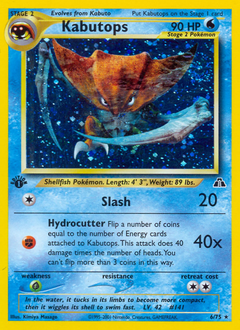 Kabutops card for Neo Discovery