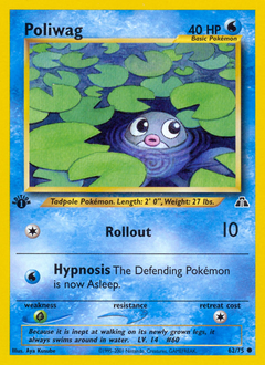 Poliwag card for Neo Discovery
